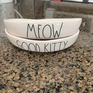 Rae Dunn cat dish set